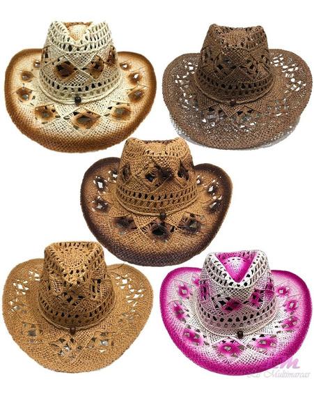 Kit Com 5 Chapéus Country Sertanejo, Rodeio, Shows, Cowboy, Peão, Caubói, Pião, Barretos
