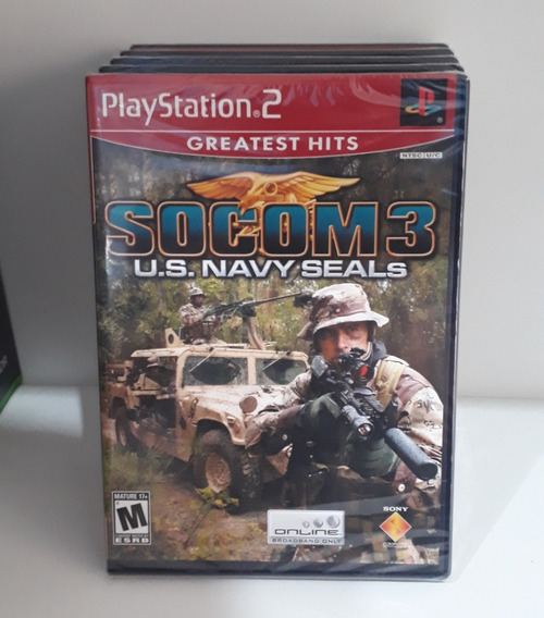Jogo Socom3 U.s Navy Seals,original Lacrado Para Playstatio2