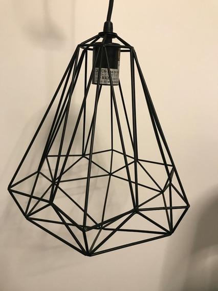 Luminária Diamante Preto
