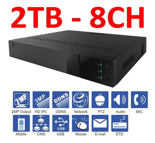 Dvr 8 Canales Hd 1080p - Hd 2tb - Penta Ed8008tsc-2 Titanium