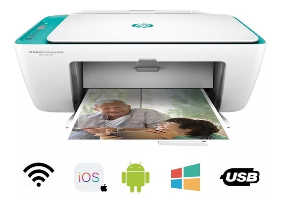 Impressora Hp Multifuncional 2675 Wifi + Cartucho Originais