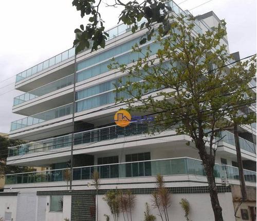 Apartamento Triplex Com 3 Dormitórios À Venda, 190 M² Por R$ 650.000,00 - Costazul - Rio Das Ostras/rj - At0002