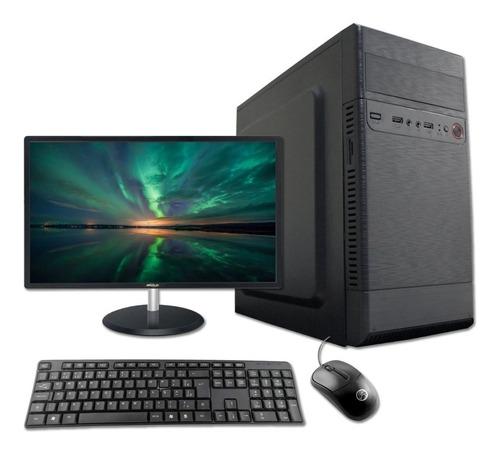 Imagem 1 de 5 de Computador Desktop I3 2100 4gb Ssd 240gb Wifi Kit Monitor 17
