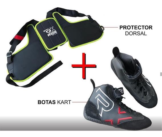 Combo Kit De Karting Auto Botas + Protector Costal Ridemax