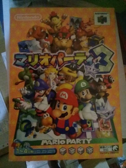 Mario Party Nintendo 64 1, 2 E 3 Originais E Na Caixa