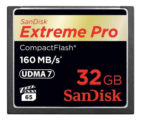 Cartão Memória Sandisk Compact Flash 32gb 160mb/s