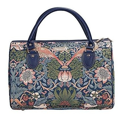 Diseñador William Morris Bolsa De Viaje By Signare Con Flor