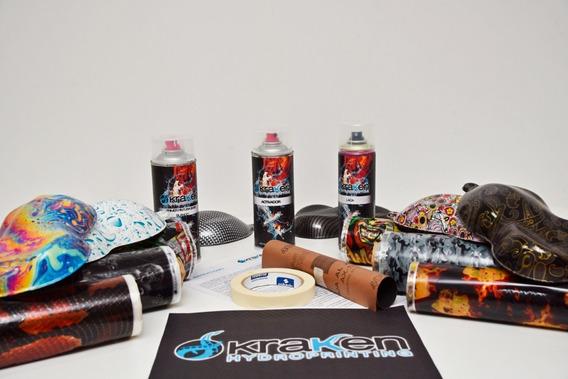 Kit Aerosol Basico Water Transfer Printing, Hidrografia