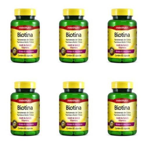 Imagem 1 de 1 de Maxinutri Biotina Plus+vit B1+b5+acid Fólico C/60 (kit C/06)