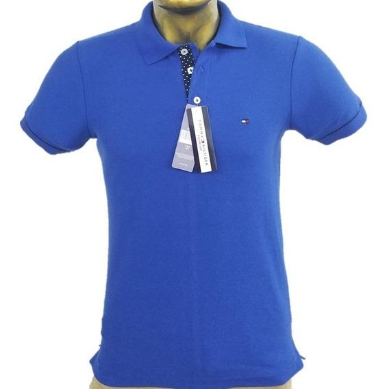 Playera Tipo Polo Tommy Azul Envio Gratis