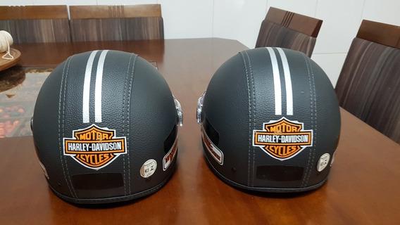 Capacete Kraft Plus Couro Custom - Harley Davidson Tam. 56
