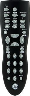 Ge 34927 Control Remoto De 3 Dispositivos, Negro, Facil De C