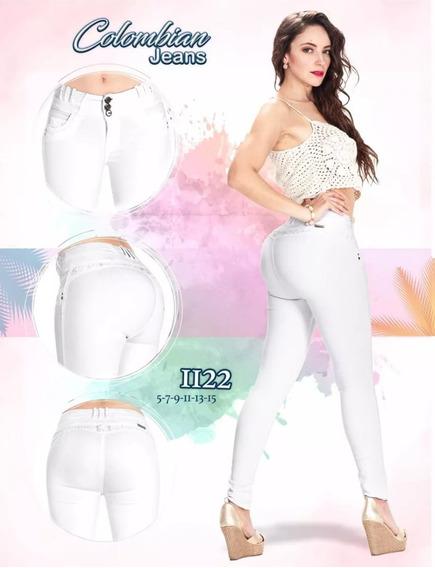 Jeans Dama Levanta Pompa Pantalón Colombiano Push Up Mezclil