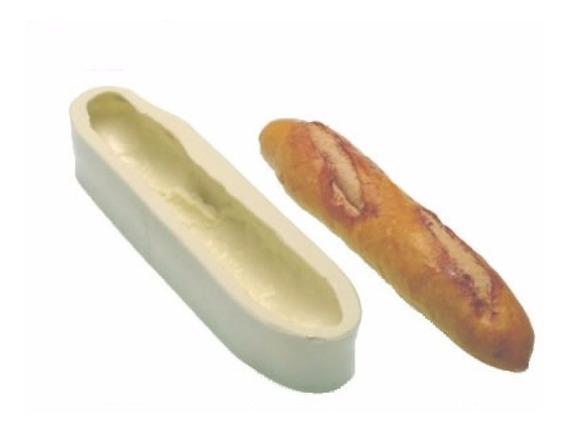 Molde Silicone Baguete Para Artesanato Gesso Biscuit Pão