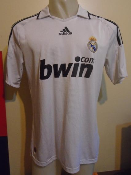Camiseta Real Madrid 2008 2009 V Nistelrooy #17 Holanda T. L
