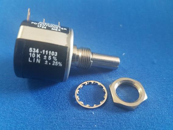Potenciômetro Multivoltas Vishay Spectrol 534 10k 534-11103
