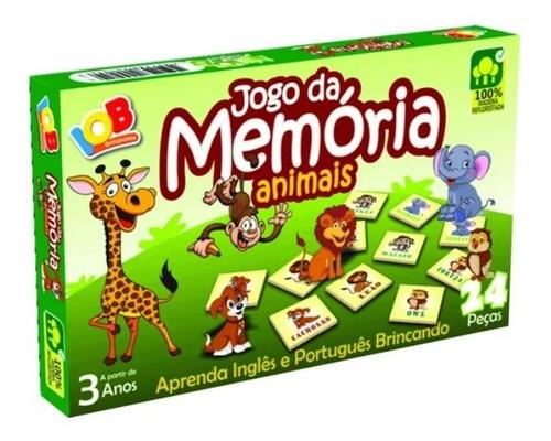 Jogo Da Memória Animais  (jogo Educativo) - Iob Artepinus