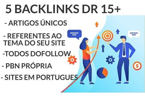 5 Backlinks Dr 15+ Ahrefs Você Na Primeira Página Do Google