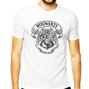 Camisa Masculina Harry Potter Hogwarts Gryffindor Slytherin