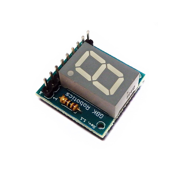 Modulo Display Anodo Comum 1 Digito P11 Gbk Robotics