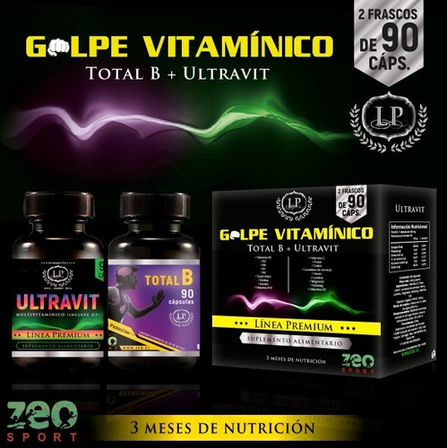 Golpe Vitamínico Complejo B Vit. C D3 Calcio Magnesio Hierro