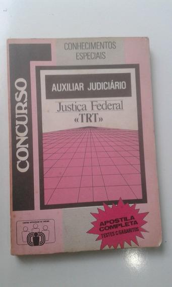 Livro De 1989 - Auxiliar Judiciário - Trt - Justiça