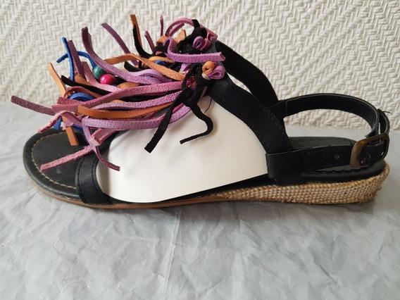 Sandalias Con Plecos