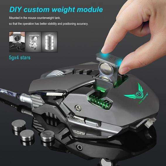 Zerodate X300gy Coolest Mecânico Sentimento Mouse 4000dpi Aj