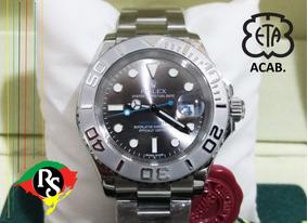 Relógio Yach Master 40mm Cinza Grey Cerâmica Automatico Saf