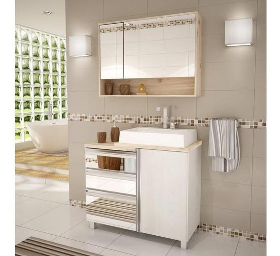 Gabinete Para Banheiro Com Cuba Balcony Torino Árti/caber