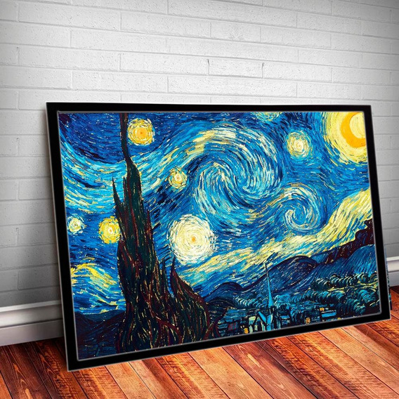 Quadro Noites Estreladas Vincent Van Gogh 45x35cm Poster