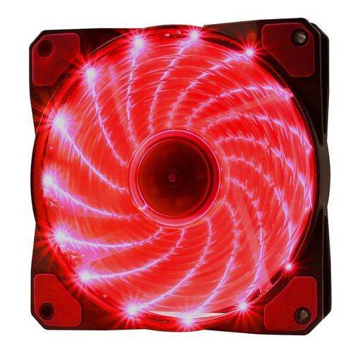 Cooler Rgb 120mm 15 Leds Vermelho Pc Gamer Fan Gabinete Gami