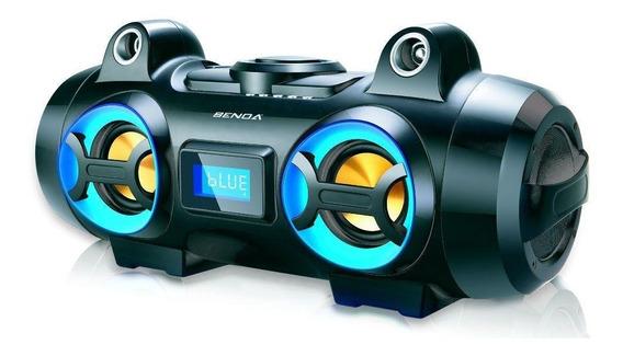 Rádio Portátil Fm Entrada Usb Aux Bluetooth 70w Rms Bivolt