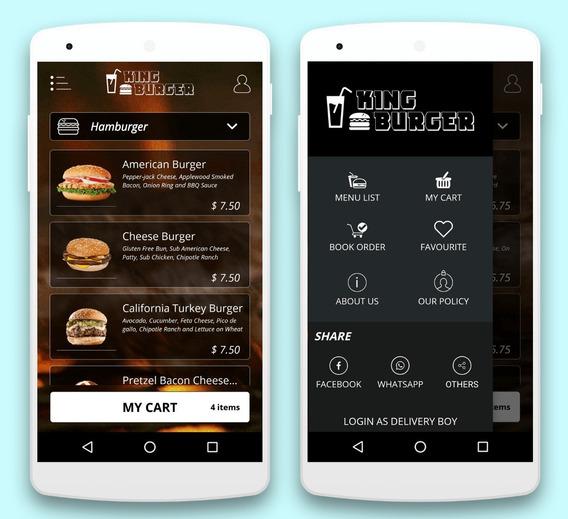 Aplicativo Delivery Pizzaria Hamburgueria Login Motoboy Mesmo App,traduzido Para Português...