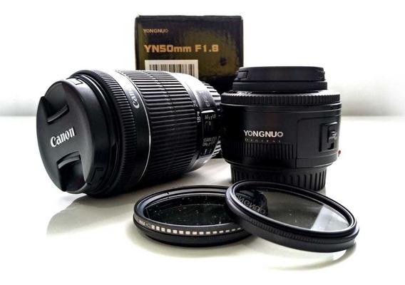 Vendo Câmera Fotográfica! Câmera Canon T5i Lente 18-135mm E