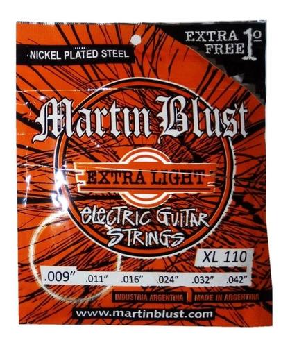 Imagen 1 de 9 de Encordado Electrica Martin Blust X/ligth .009/.042 Xl110