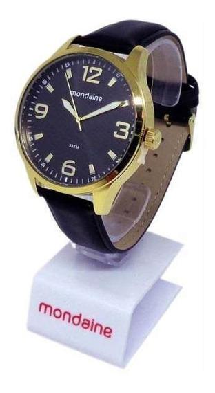 Relógio Mondaine Masculino Pulseira Couro 76667gpmvdh2
