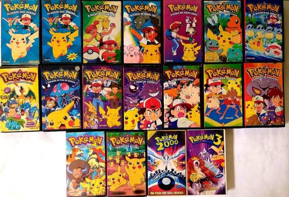 Fita Vhs Pokémon 2000 O Filme + Pokemon - 15 Fitas
