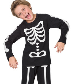 Pijama Esqueleto Infantil - Veggioficial