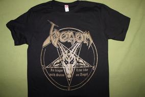 Gusanobass Playera Rock Metal Black Venom In League S M Y L
