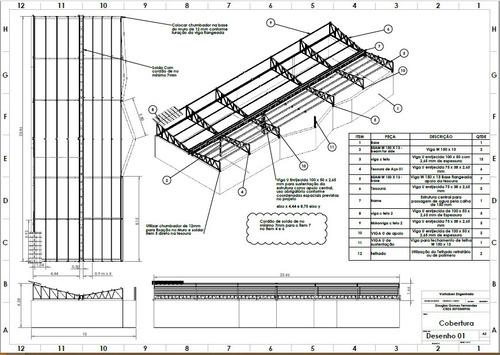 Imagem 1 de 8 de Projetos De Estruturas Metálicas E Máquinas