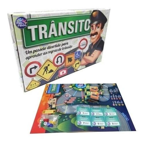 Imagem 1 de 3 de Brinquedo Educativo Jogo Regras De Trânsito Didático Criança