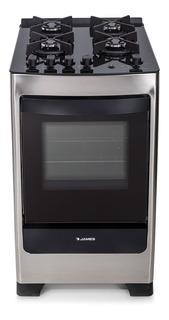 Cocina Supergas James C700 Inox Mesada Vidrio 4 H. - Ltc
