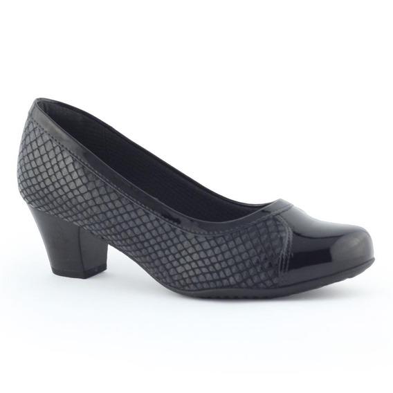 Sapato Feminino 111063 Verniz Texturizado - Piccadilly