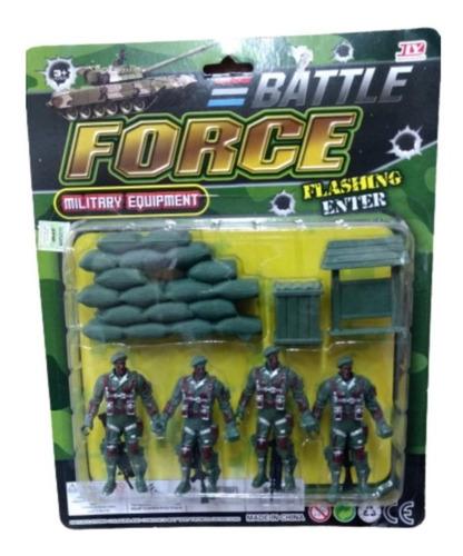 Soldados X4 Unidades Con Accesorios En Blister