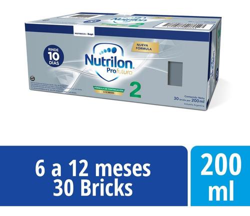 Imagen 1 de 3 de Nutrilon Profutura 2 Formula Lactea Líquida 30 Bricks 200ml