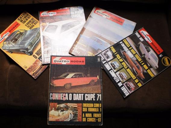 12 Antigas Revistas Quatro Rodas Da Decada De 70