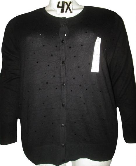 Sweater Negro De Mujer De Gala Y Pedreria Talla 4x And Ea Wy