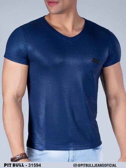 Camiseta Masculina Pit Bull Jeans Original. Ref: 31594 (enc)