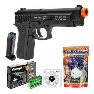 Pistola Airsoft Taurus Spring Pt92 Slide Metal 328fps + 2000